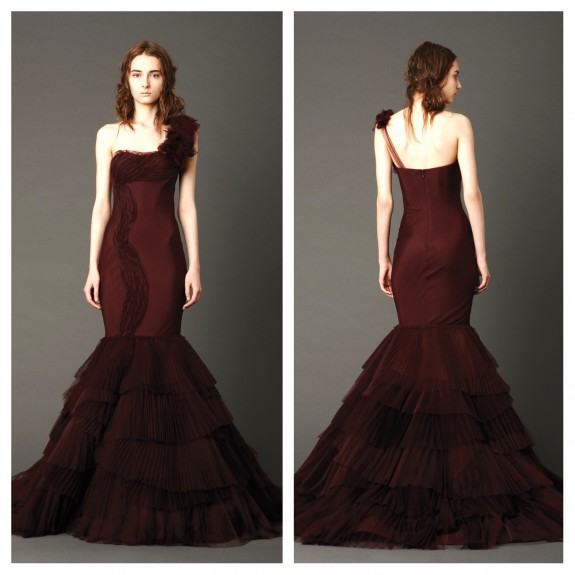 Vera Wang Red Wedding Dresses 2013 Kaye