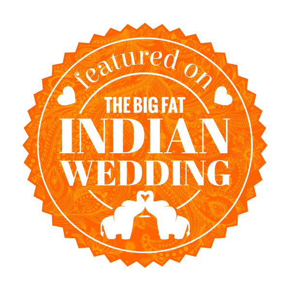 the big fat indian wedding featured badge -orange