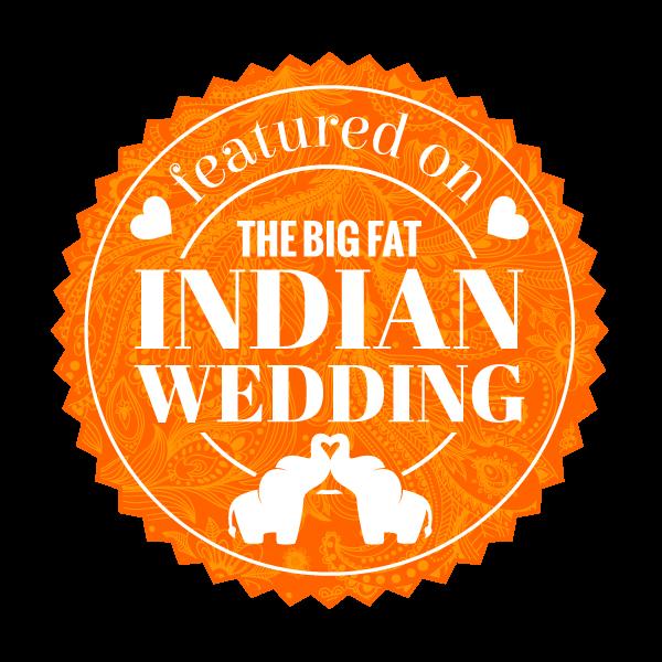 the big fat indian wedding featured badge -orange
